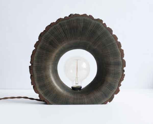 Сувенир светильник из дерева